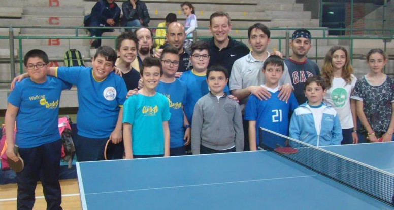 Immagine del gruppo di atleti e allenatori dello stage provinciale