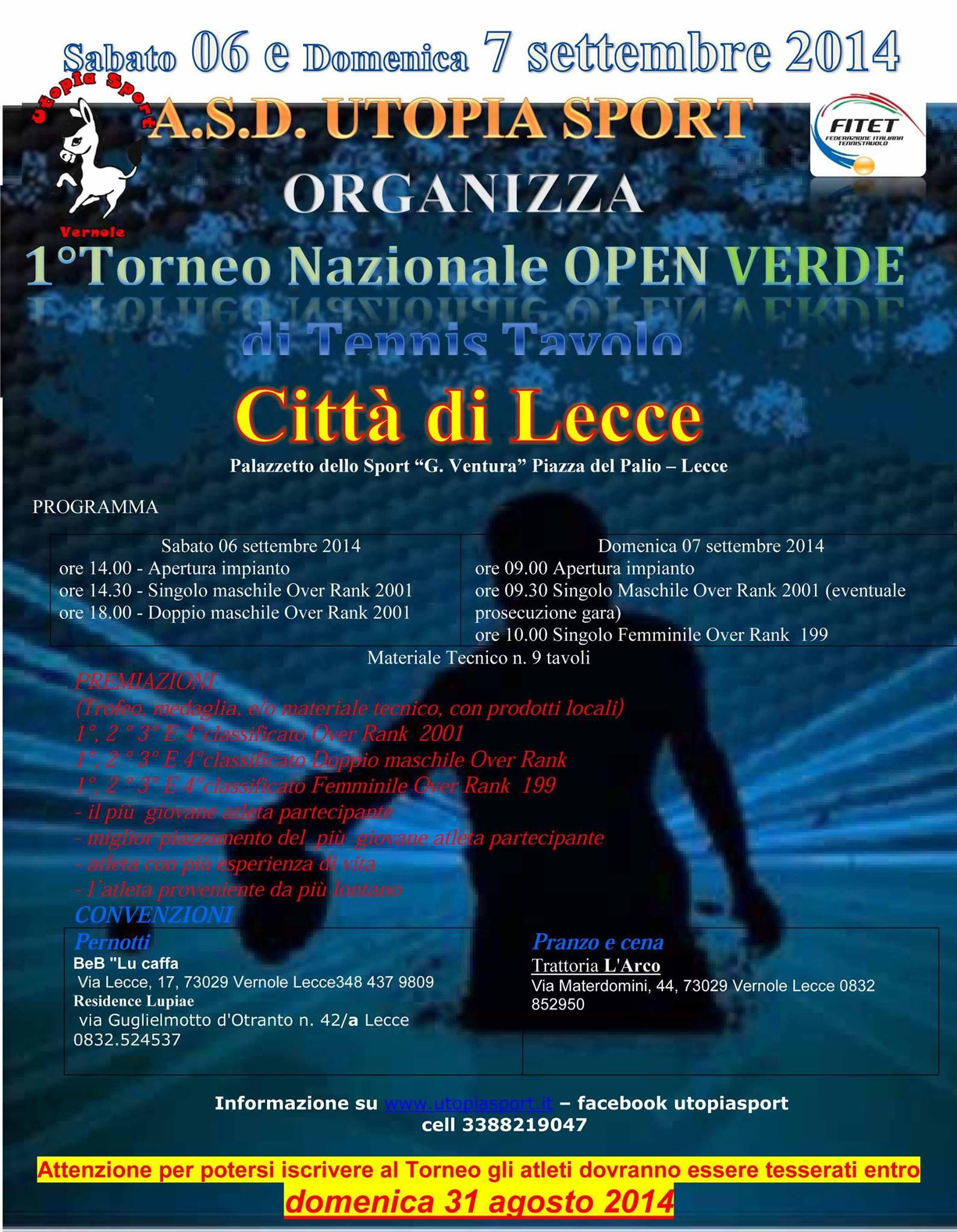 1 Torneo Nazionale Open Verde