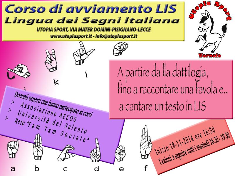 Corso di avviamento LIS - Lingua dei segni italiana